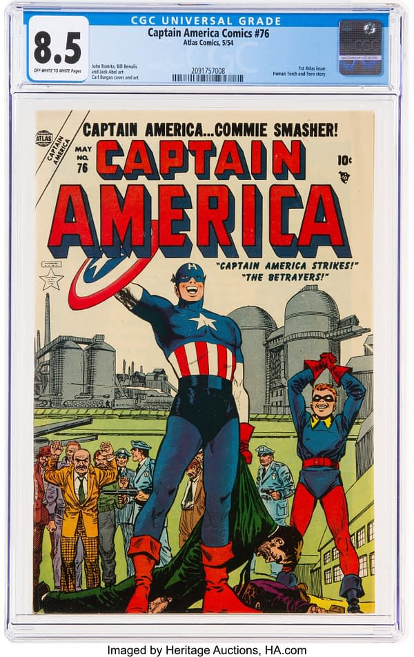 Beautiful Copy Of Captain America Comics #76 On Auction Today
