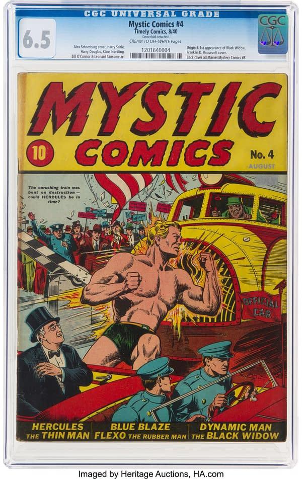Mystic Comics #4 cover by Alex Schomburg.