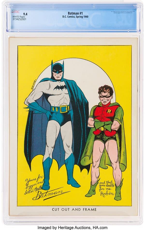 Highest Graded Batman #1 CGC 9.4 Zooms Past $1M Mark at Auction