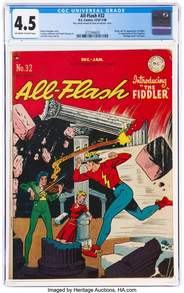 All-Flash #32, DC Comics 1947/48, first appearance of Star Sapphire.