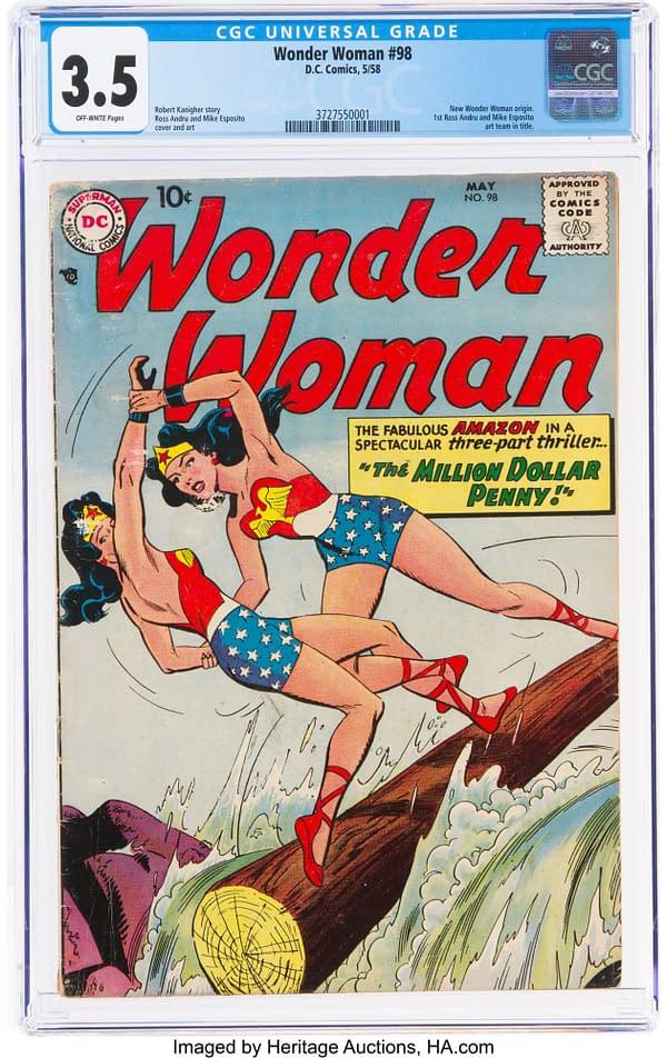 Wonder Woman #98, 1958 DC Comics.
