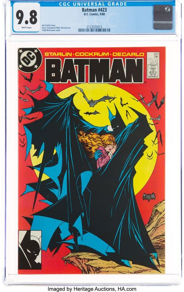 Batman #423 with Iconic Todd McFarlane cover, DC Comics, 1988.