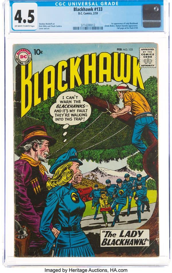 Blackhawk #133, the first appearance of Lady Blackhawk, DC Comics.