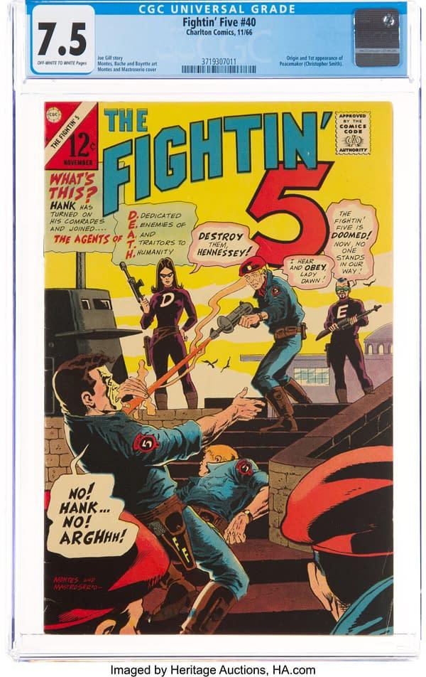 The Fightin' 5 #40 (Charlton, 1966) CGC VF- 7.5