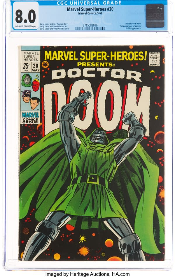 Marvel Super-Heroes #20 featuring Doctor Doom, Marvel 1969.