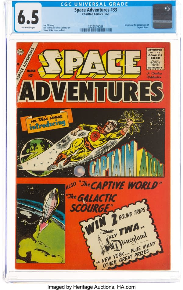 Space Adventures #33 featuring the first appearance of Captain Atom, Charlton Comics 1959.