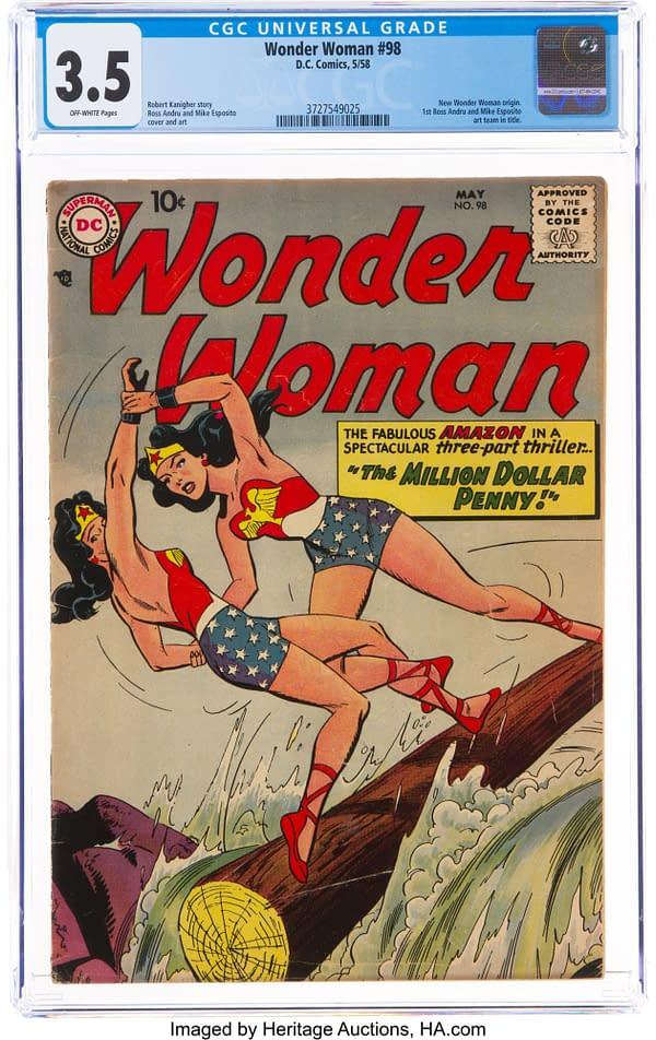 Wonder Woman #98, CGC 3.5, DC Comics 1958.