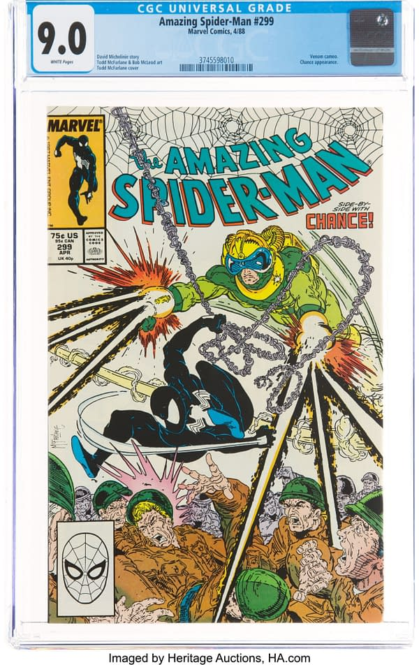 Venom Cameos In Amazing Spidey #299 At Auction Today At Heritage