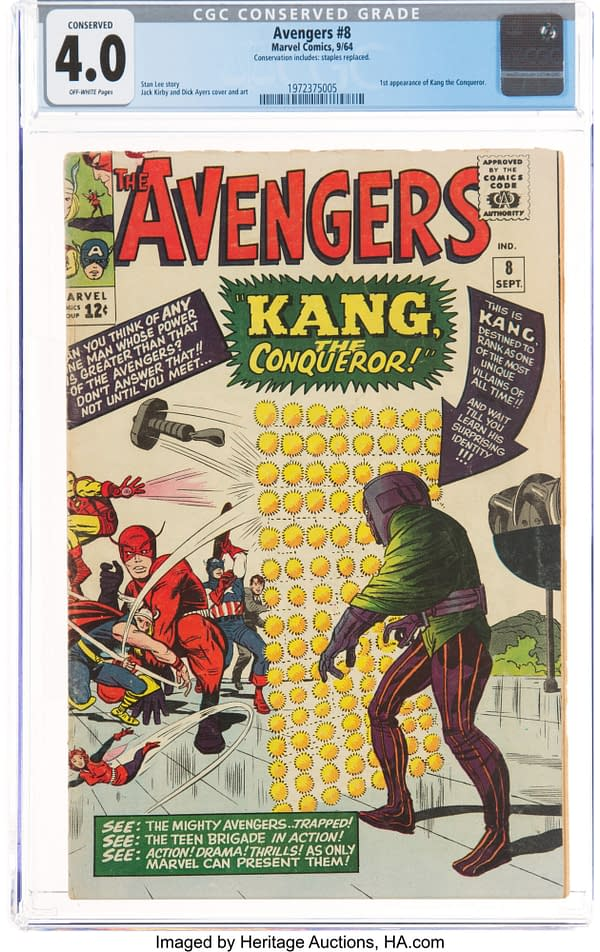 Avengers #8 CGC Copy On Auction Today At Heritage Auctions