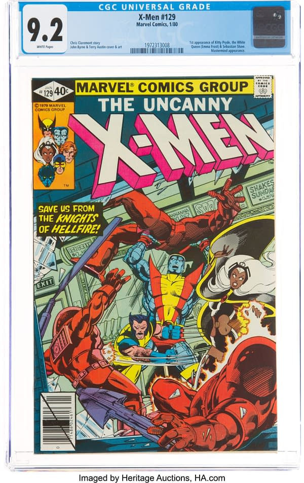First Appearance Of Kitty Pryde, Emma Frost On Auction At Heritage