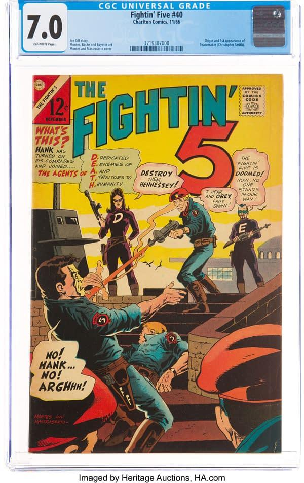 The Fightin' 5 #40 (Charlton, 1966) CGC 7.0
