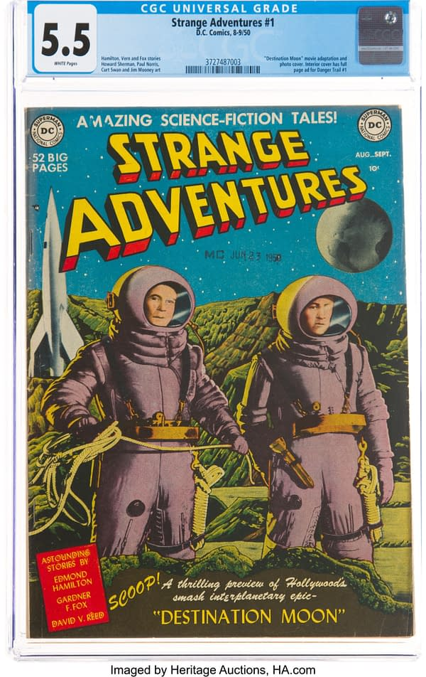 Strange Adventures #1 CGC 5.5, DC Comics, 1950.