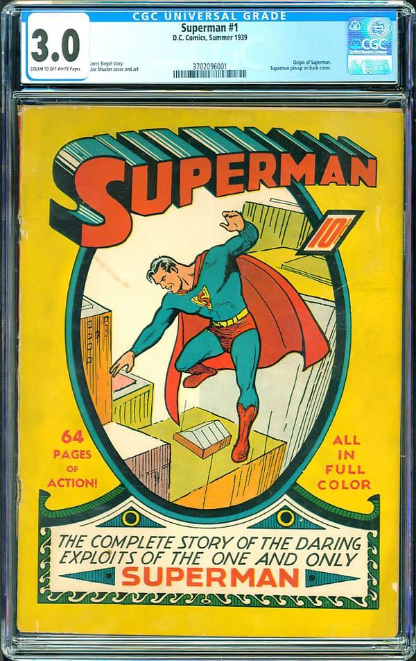 Superman #1 CGC 3.0, Summer 1939 DC Comics.