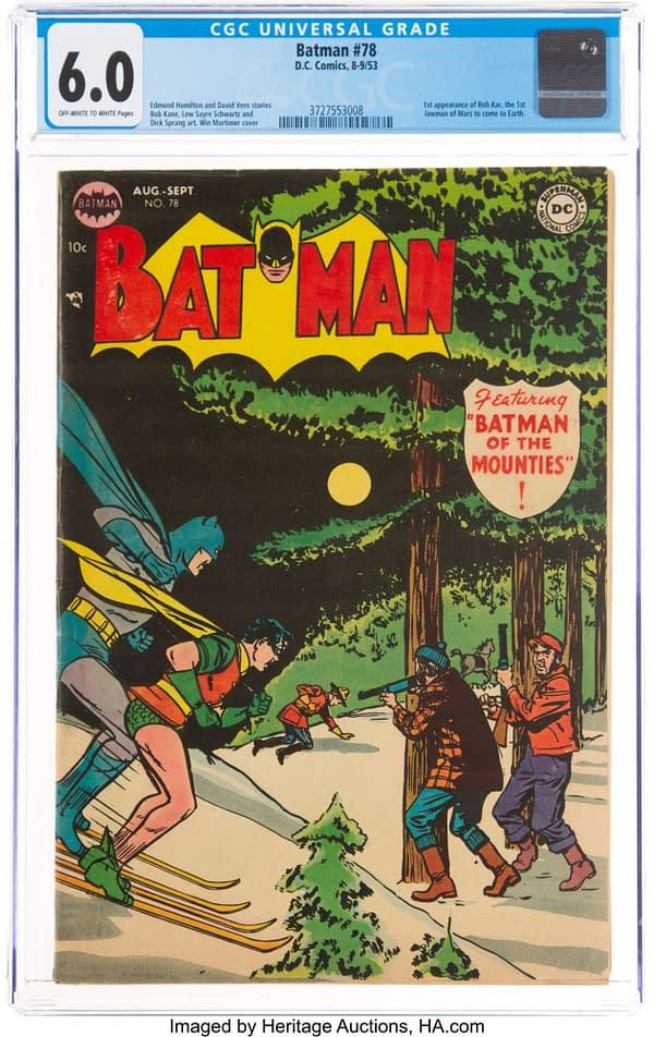 Batman #78 featuring the first Martian Manhunter.