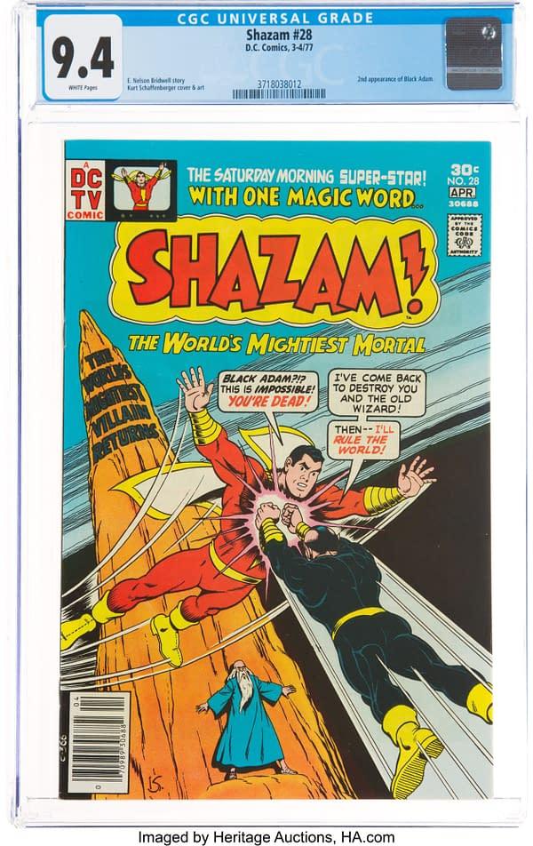 Shazam! #28 featuring Black Adam, art by Kurt Schaffenberger, DC Comics 1977.