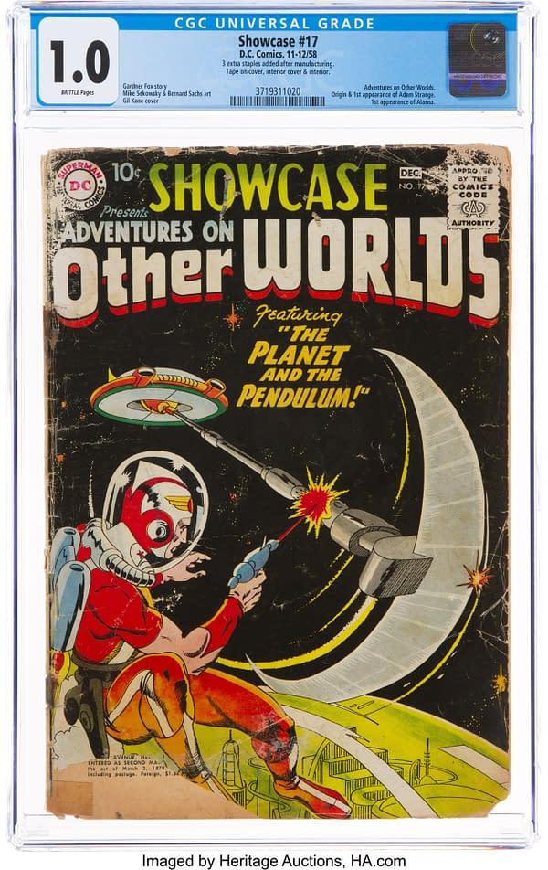Showcase #17 featuring Adam Strange, DC Comics 1958.