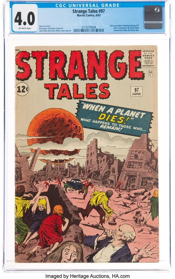 Strange Tales #97 featuring Aunt May and Uncle Ben, Marvel 1962.