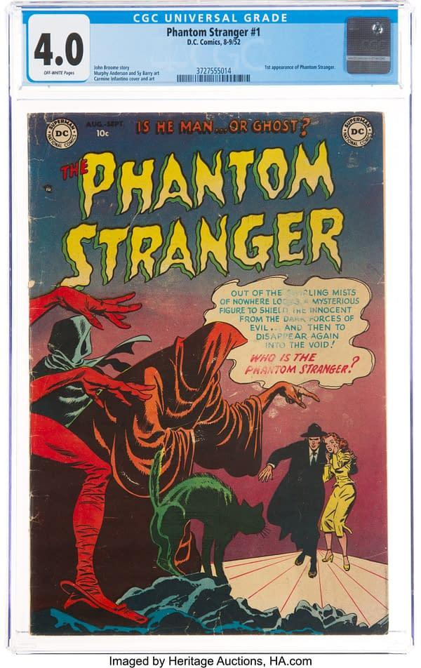 Phantom Stranger #1, cover art by Carmine Infantino,DC Comics 1952.