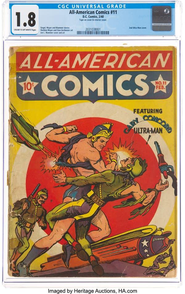 All-American Comics #11 featuring Ultra-Man, DC Comics 1939.