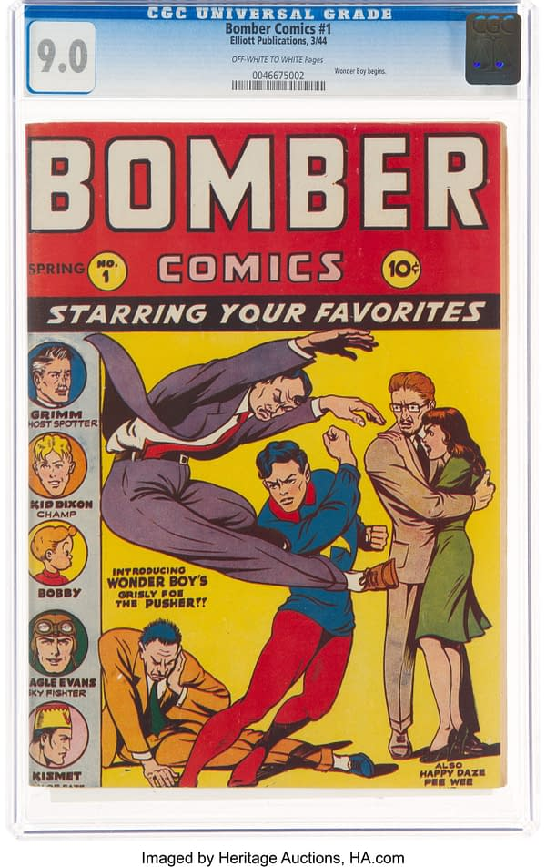 Bomber Comics #1, featuring Kismet, Man of Fate (Elliot, 1944).