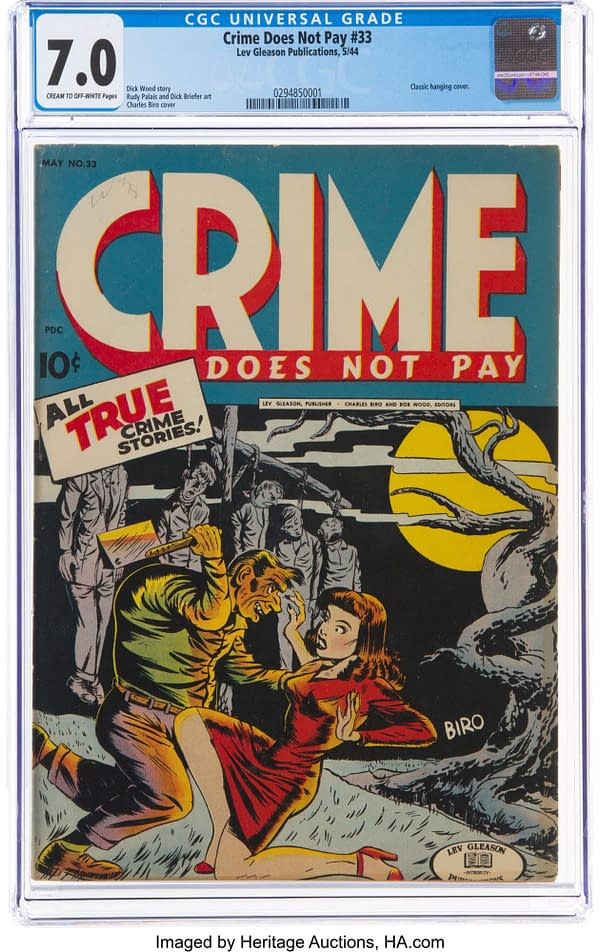 Crime Does Not Pay #33, Lev Gleason, 1944.