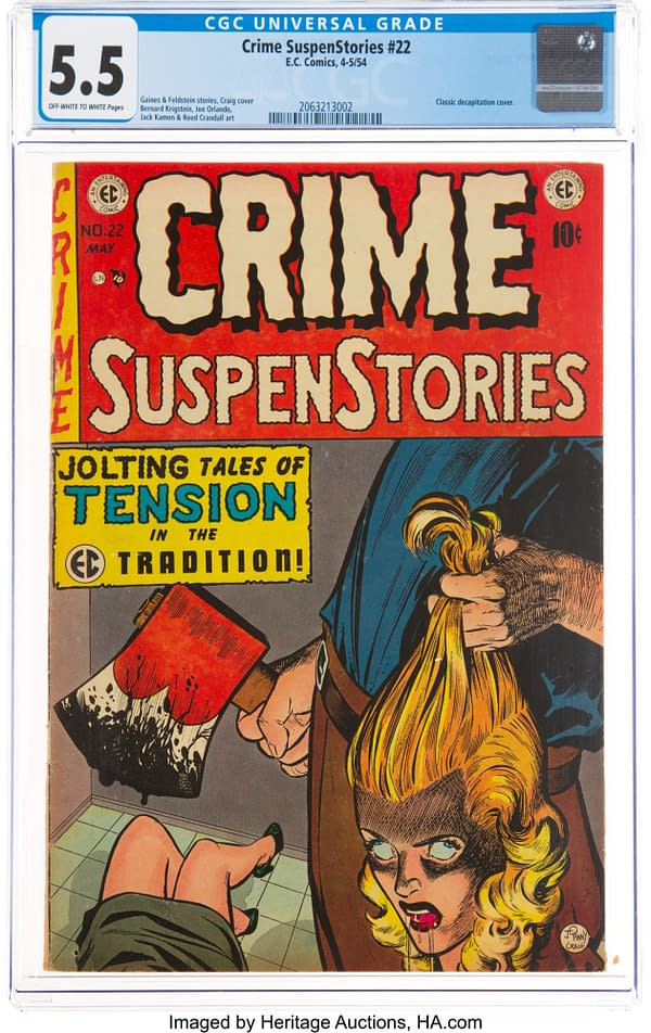 Crime SuspenStories #22 (EC, 1954) CGC FN- 5.5 Off-white to white pages.