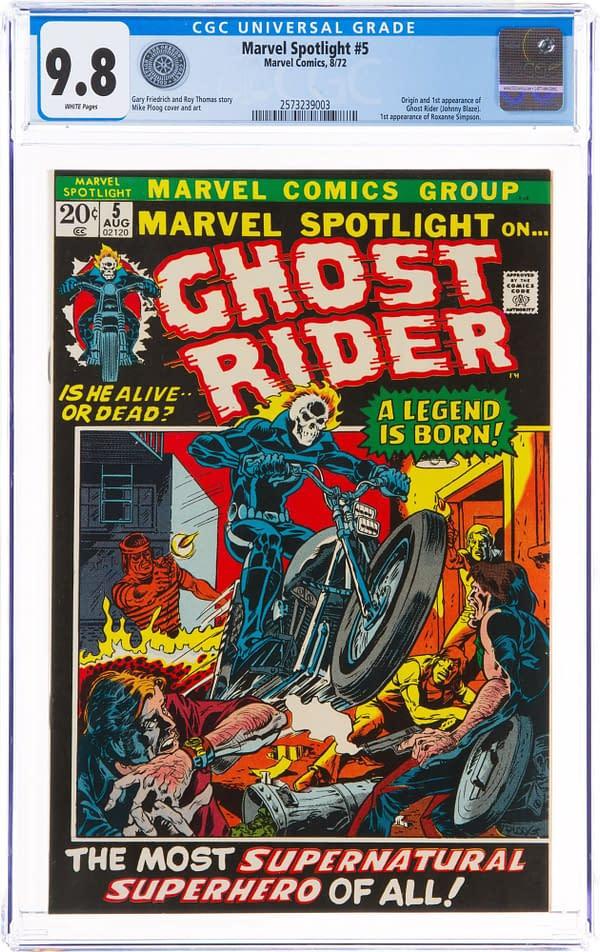 Marvel Spotlight #5 featuring Ghost Rider, Marvel Comics 1972.