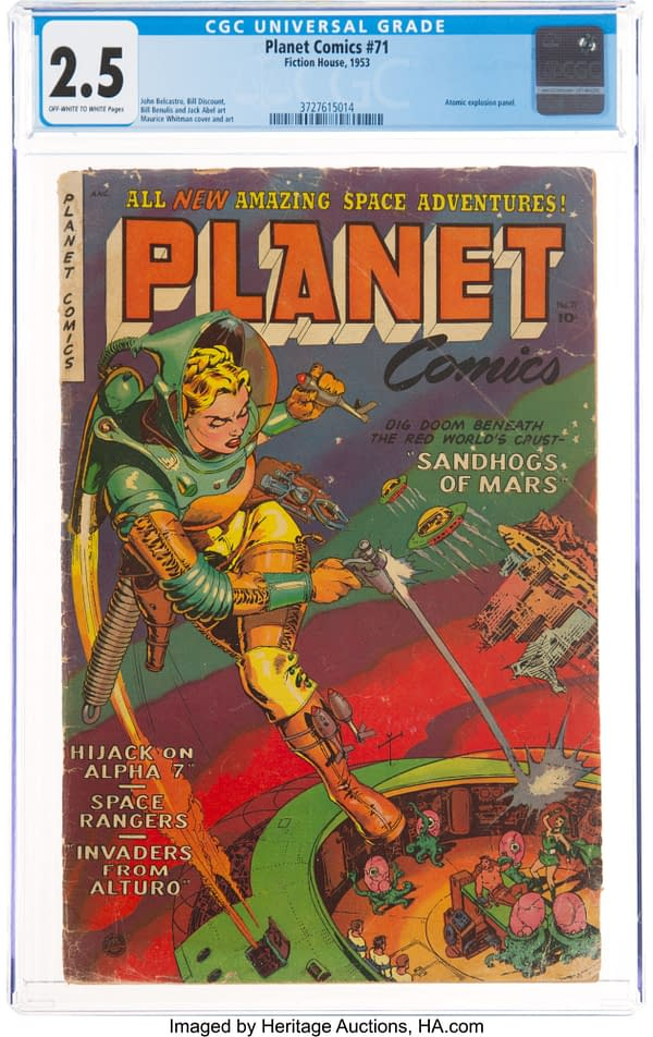 Planet Comics #71 (Fiction House, 1953).