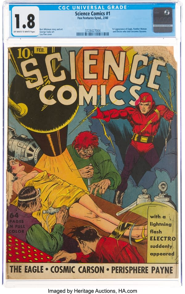 Science Comics #1, Fox 1940.