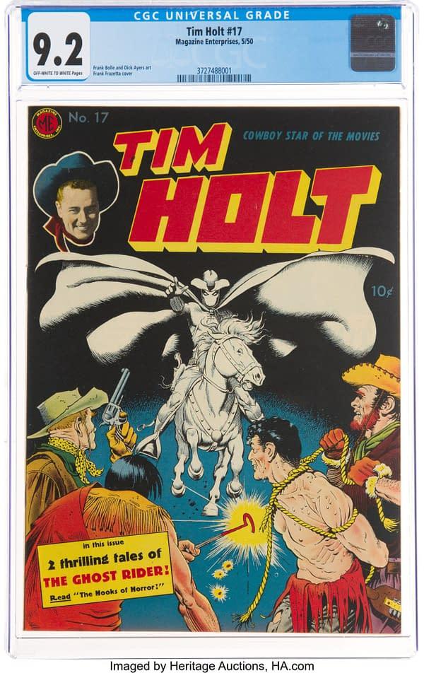 Tim Holt #17 (Magazine Enterprises, 1950) Ghost Rider cover by Frank Frazetta.