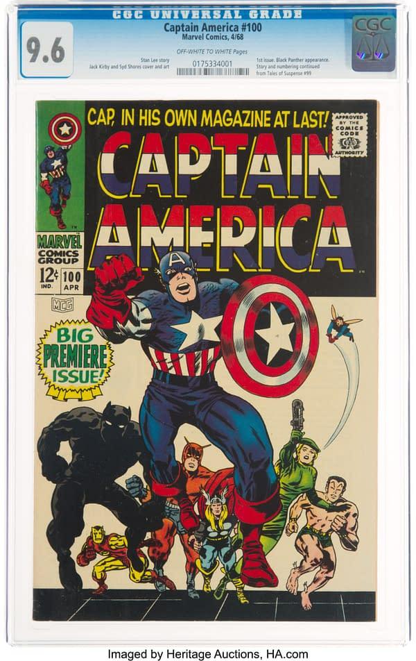 Captain America #100 (Marvel, 1968).
