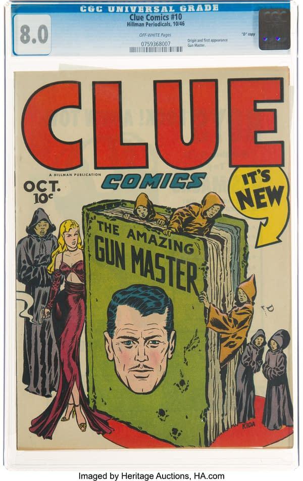 Clue Comics # 10 with the Gun Master (Hillman Periodicals, 1946).