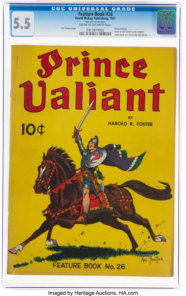 Hal Foster's Prince Valiant in Feature Book #26, Up for Auction