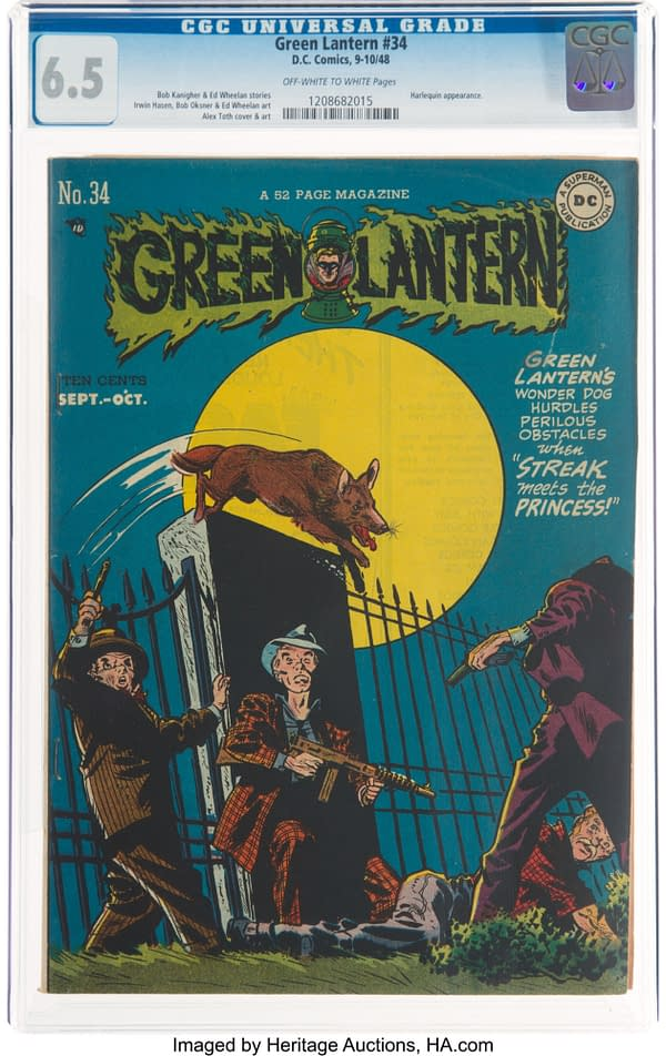 GL #34 (DC, 1948), Streak the Wonder Dog takes over the cover.