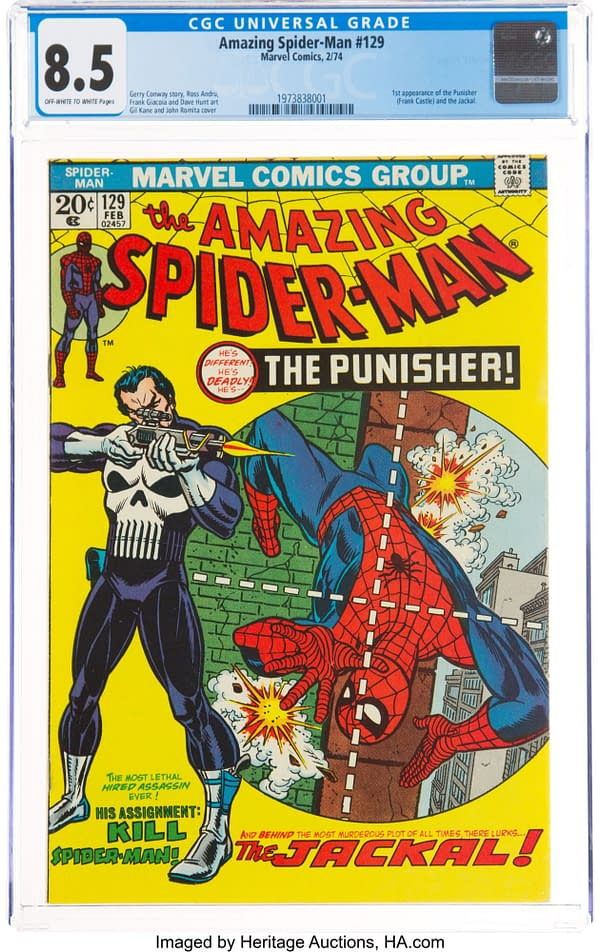 As The Punisher Returns To Comics, First Appearance Is Up for Auction