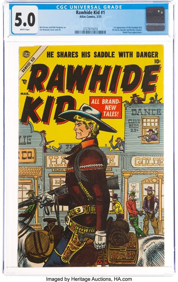 Rawhide Kid #1 (Marvel, 1955), cover art by Joe Maneely.