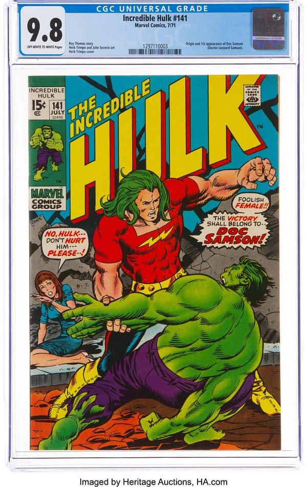 The Antiheroic Debut of Doc Samson in Incredible Hulk #141, at Auction