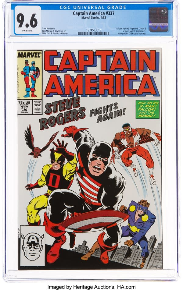 The Changing Face of Captain America in the late 1980s, Up for Auction