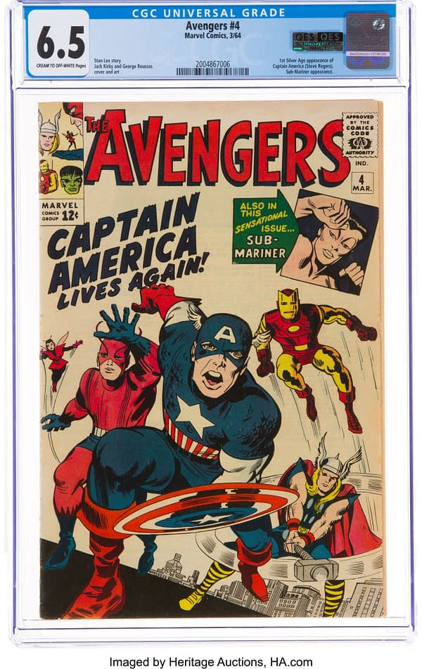The Avengers #4 (Marvel, 1964)ngers #4, Up for Auction