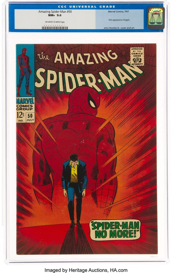 Kingpin's Debut In Amazing Spider-Man #50 At Heritage Auctions Today