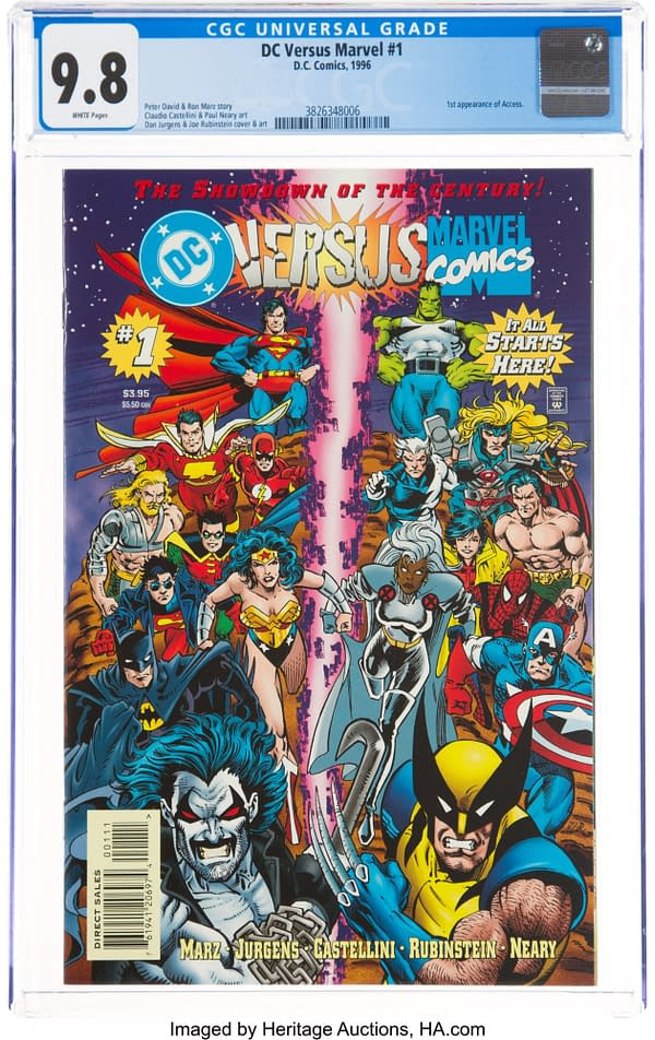 DC Vs Marvel #1 CGC 9.8 Taking Bids At Heritage Auctions