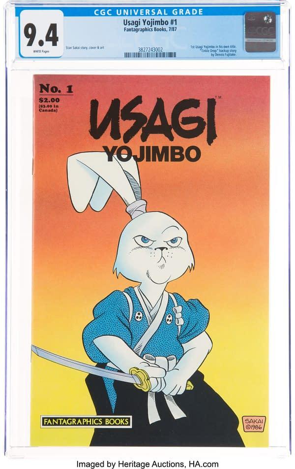 Usagi Yojimbo #1 CGC Copy Taking Bids AT Heritage Auctions Today
