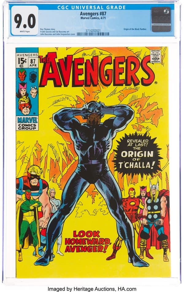 When Marvel Comics First Published The Origin Of Black Panther - Avengers #87 At Auction