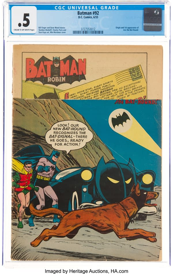 Batman #92, DC Comics 1955, first appearance of Ace the Bathound.