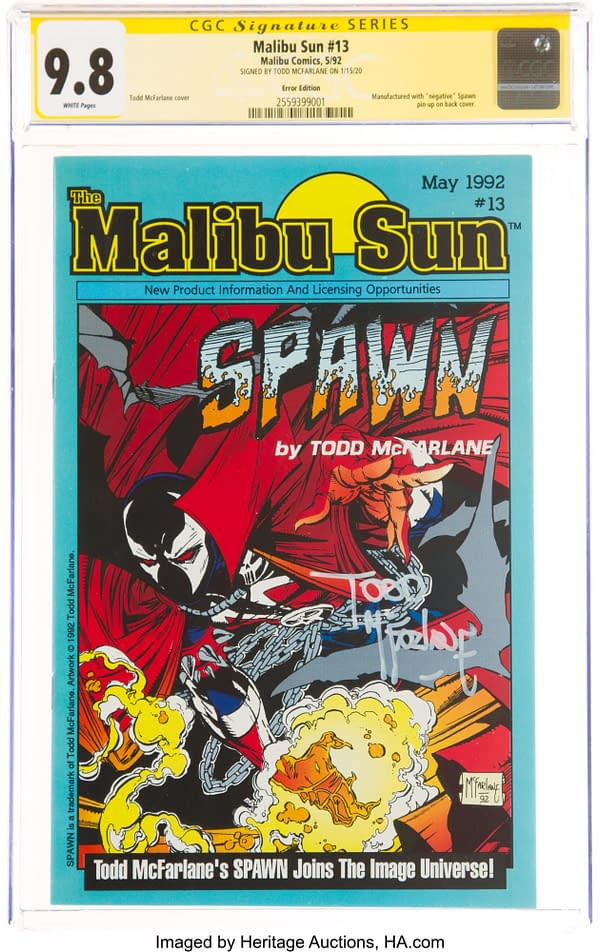 Todd McFarlane-Signed Early Spawn Misprint 9.8 CGC at Auction