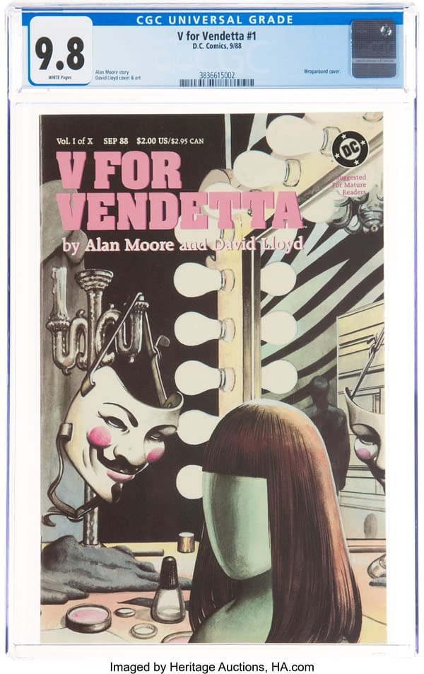 Alan Moore and David Llloyd's V For Vendetta #1 CGC 9.8 At Auction
