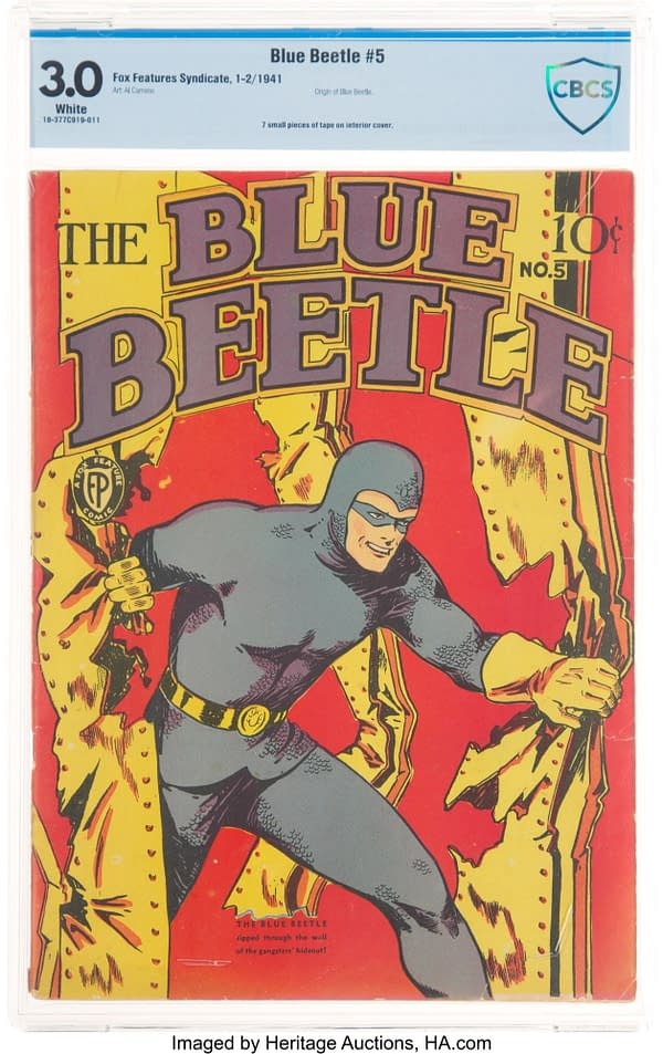 Blue Beetle #5, Fox Features 1941.