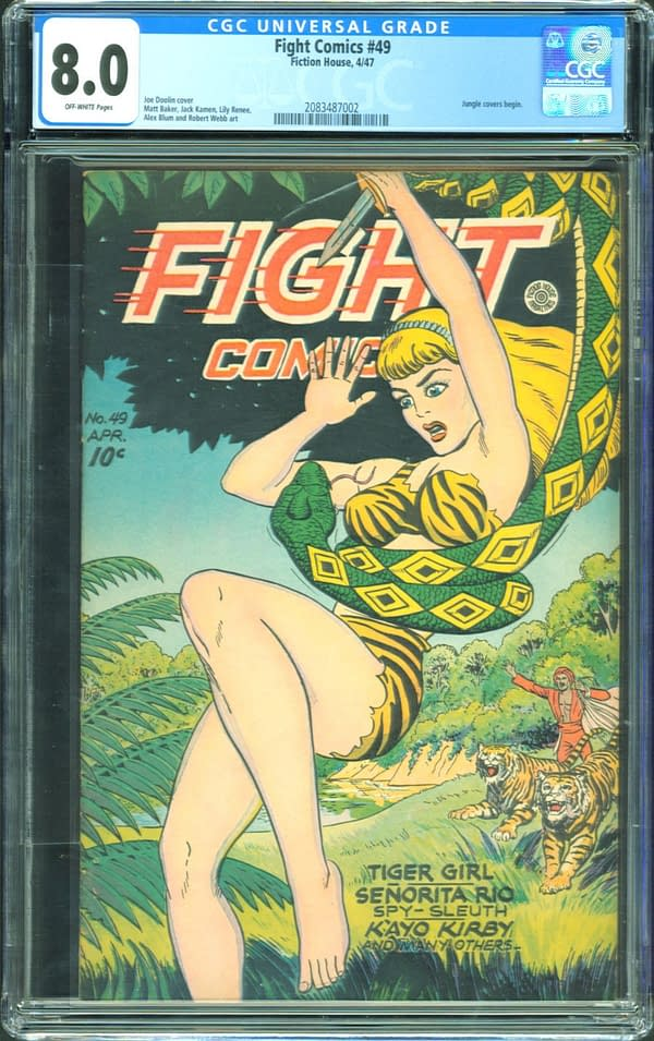 The copy of Fight Comics #49 currently up for auction on ComicConnect. Image Credit: ComicConnect