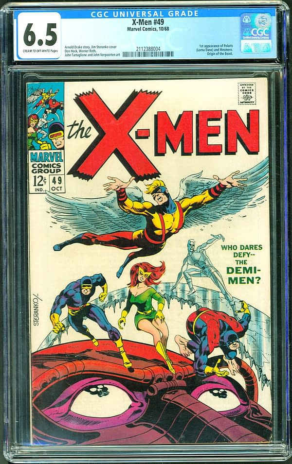 Classic X-Men Cover CGC Copy Up For Auction On ComicConnect