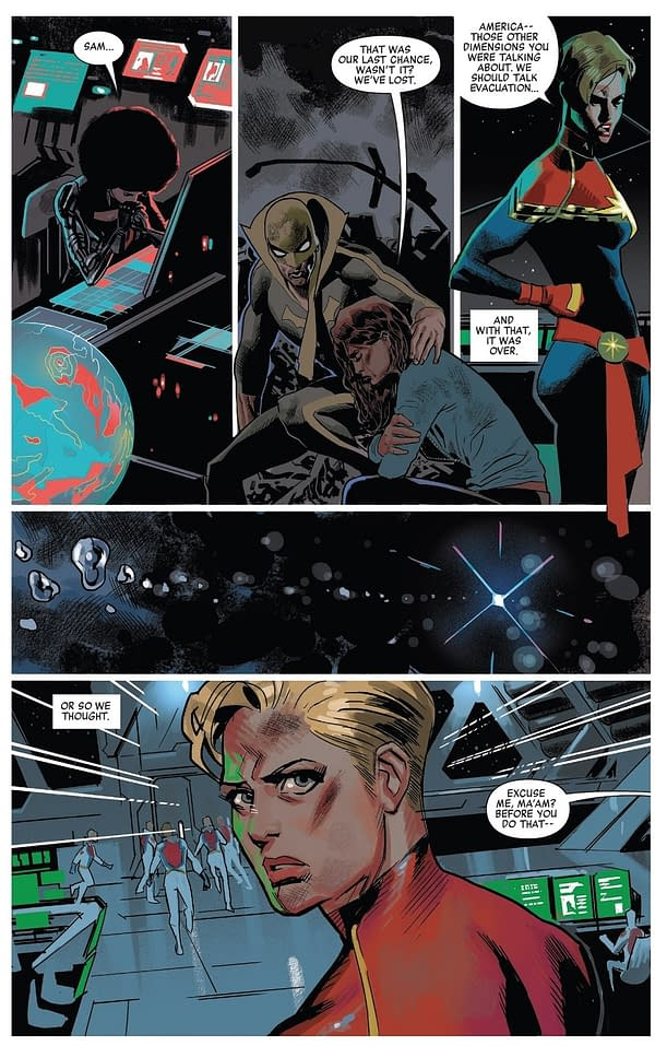The Mighty Captain Marvel #8 Repeats Scenes From Secret Empire #8